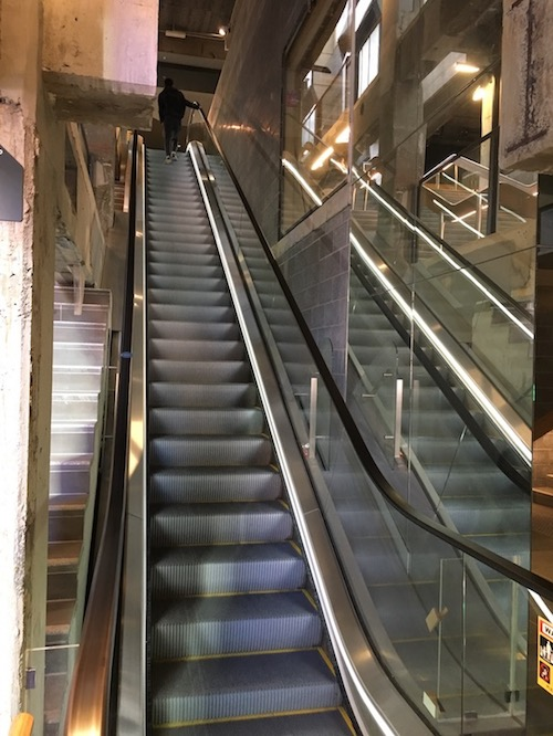 Up the escalator